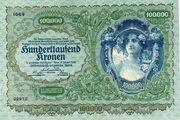 100 000 Kronen – obverse