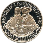 100 Schilling (Kaiser Karl V) -  obverse