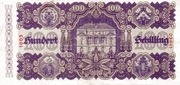 100 Schilling (Second issue) – reverse