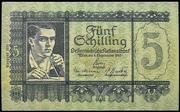 5 Schilling (1951 issue) – obverse