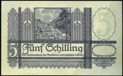 5 Schilling (1951 issue) – reverse