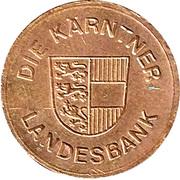Safe deposit token - Hypo Bank (Karnten) – reverse