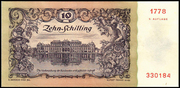 10 Schilling (Second issue) – reverse
