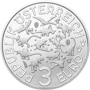 3 Euro (Deinonychus) -  obverse