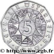 5 Euro (Ski Jump) -  reverse