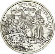 10 Euro (Richard the Lionheart in Dürnstein) -  reverse