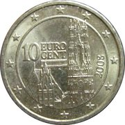 10 Euro Cent (2nd map) -  obverse