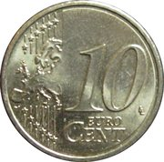 10 Euro Cent (2nd map) -  reverse