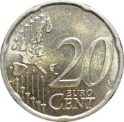 20 Euro Cent (1st map) – reverse