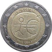 2 Euro (10 Years EMU) -  obverse