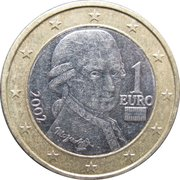 1 Euro (1st map) – obverse