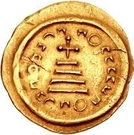 1 Solidus - In the name of Heraclius, 610-641 & Heraclius Constantine, 641 (Cross with round ends) – reverse