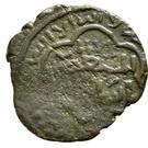 Fals - al-Muzaffar Ghazi (Linear hexagonal type - Mayafariqin) – obverse