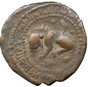 Dirham - al-Nasir Salah al-Din Yusuf - Saladin - 1174-1193 (Egypt and Syria - Artuqid prototype - Lion type) – obverse