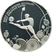 5 Manat (Rhythmic Gymnastics) – reverse