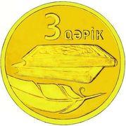 3 Qəpik (Gold) – reverse