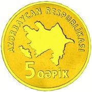 5 Qəpik (Gold) – obverse