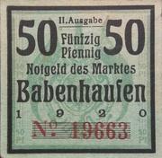 50 Pfennig (2nd Issue) – obverse