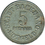5 Pfennig - Backnang – obverse