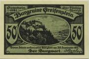 50 Pfennig (Burgruine Greifenstein) – obverse