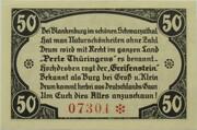 50 Pfennig (Burgruine Greifenstein) – reverse