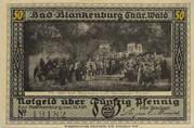 50 Pfennig (Günther von Schwarzburg Series) – obverse