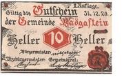 10 Heller (Bad Gastein) – obverse
