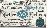 30 Heller (Bad Gastein) – obverse