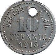 10 Pfennig - Bad Homburg vor der Höhe – reverse