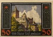 50 Pfennig (Rudelsburg) – reverse