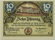 10 Pfennig (Spa Series - Issue A) – obverse