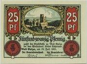 25 Pfennig (Spa Series - Issue B) – obverse