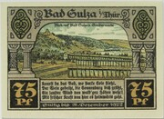 75 Pfennig (Spa Series - Issue E) – reverse