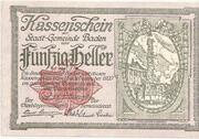 50 Heller (Baden) -  obverse
