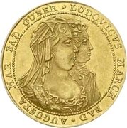 1 Ducat - Ludwig Georg (Peace of Rastatt) – obverse