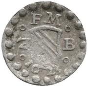 1 Pfennig - Friedrich V (Pforzheim) – obverse