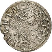2 Kreuzer - Friedrich VII Magnus – reverse