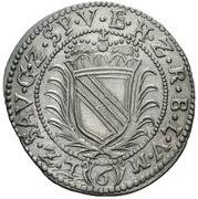 6 Kreuzer - Friedrich VII. Magnus – reverse