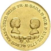 1 Ducat - Karl Friedrich (Durlach; Birth of twin daughters) – obverse