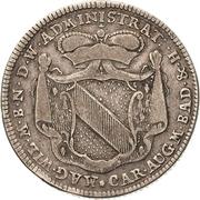 60 Kreuzer - Karl Friedrich (Administrationsgulden) – obverse