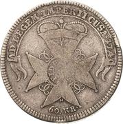 60 Kreuzer - Karl Friedrich (Administrationsgulden) – reverse