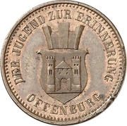 1 Kreuzer - Friedrich I (Victory over France) – obverse