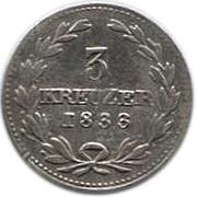3 Kreuzer - Leopold I – reverse