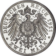 2 Mark - Friedrich II – reverse