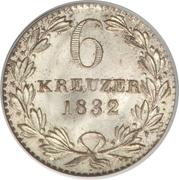 6 Kreuzer - Leopold I – reverse