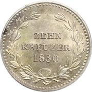 10 Kreuzer - Ludwig I – reverse