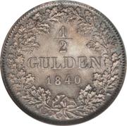 ½ Gulden - Leopold I. – reverse