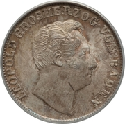 ½ Gulden - Leopold I – obverse