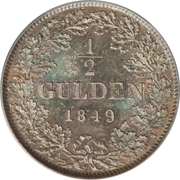 ½ Gulden - Leopold I – reverse
