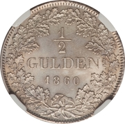 ½ Gulden - Friedrich I – reverse